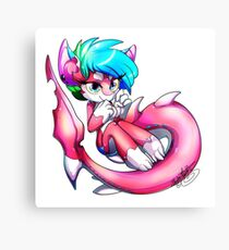 Pinkie Shark Canvas Print