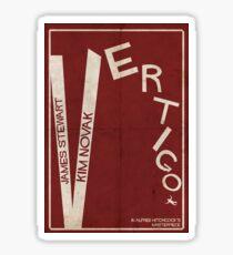 Vertigo - Poster minimalista, Alfred Hitchcock - James Stewart, Kim Novak, póster de pelicula, cartel retro, ilustración Pegatina