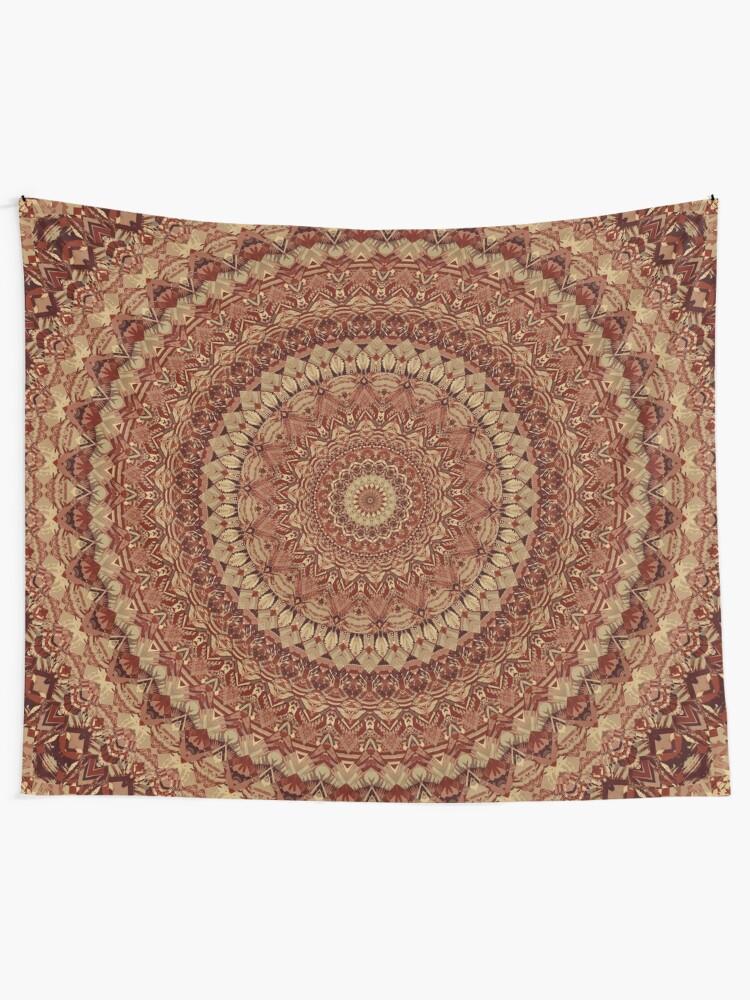 Alternate view of Mandala 132 Tapestry