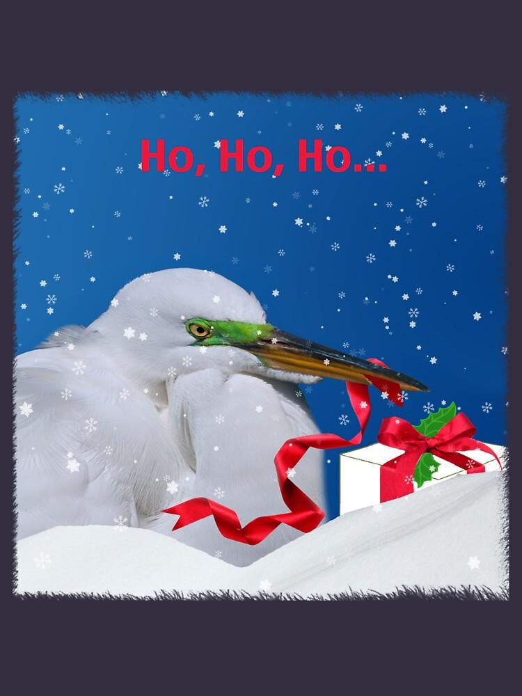 Grumpy Egret Christmas Shirt by DeloresKnowles