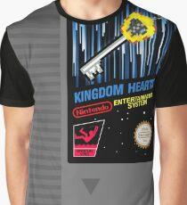 Kingdom Hearts NES Patrone Grafik T-Shirt