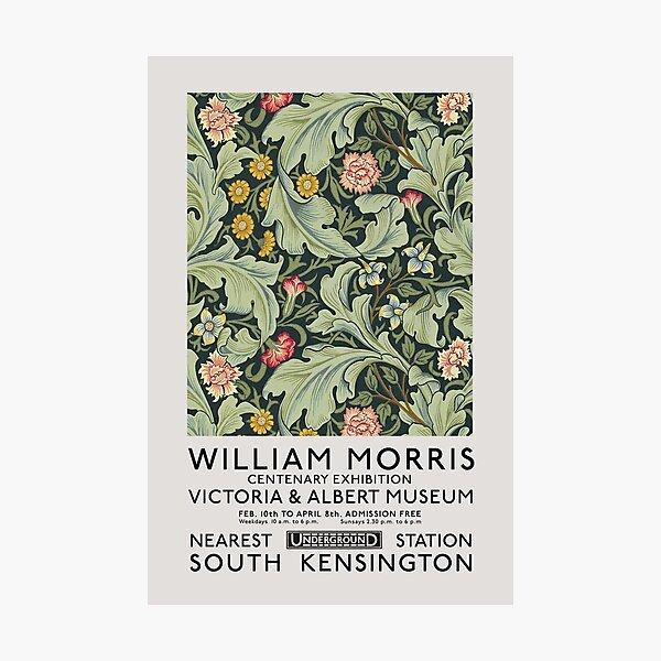 William Morris Exhibition art, Art Nouveau, Victoria and Albert Museum, Morris Flower Pattern, Home Decor, Wall Art Photographic Print