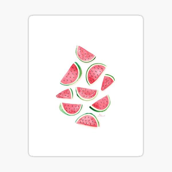 Watermelon Slice on White Sticker