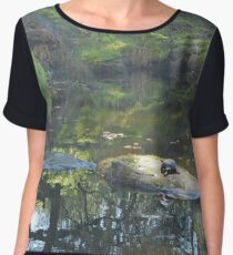 Garden water pond eco-system Chiffon Top