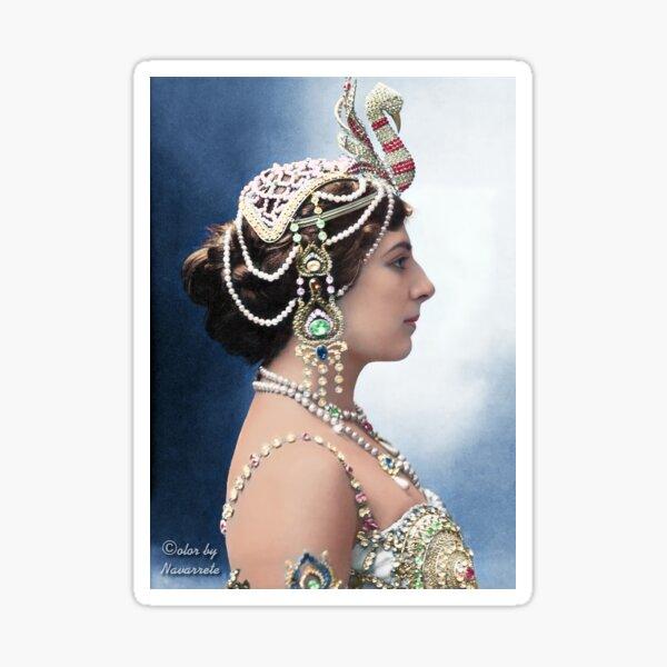 The spy-dancer Mata Hari. Sticker