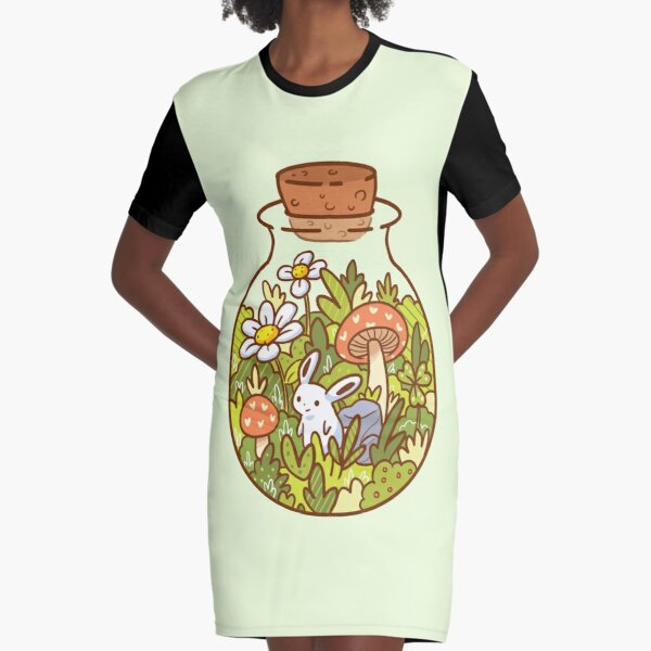 Bunny in a Bottle Graphic T-Shirt Dress