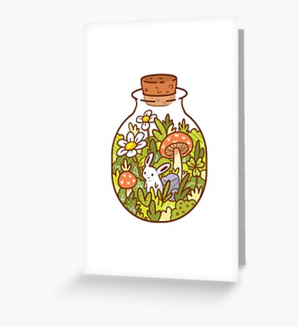 Bunny in a Bottle Greeting Card