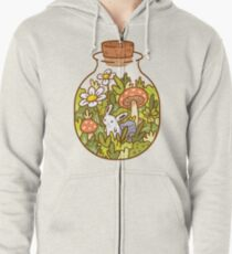 Bunny in a Bottle Zipped Hoodie
