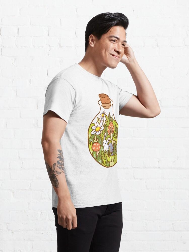 Vista alternativa de Camiseta clásica Conejito en una botella