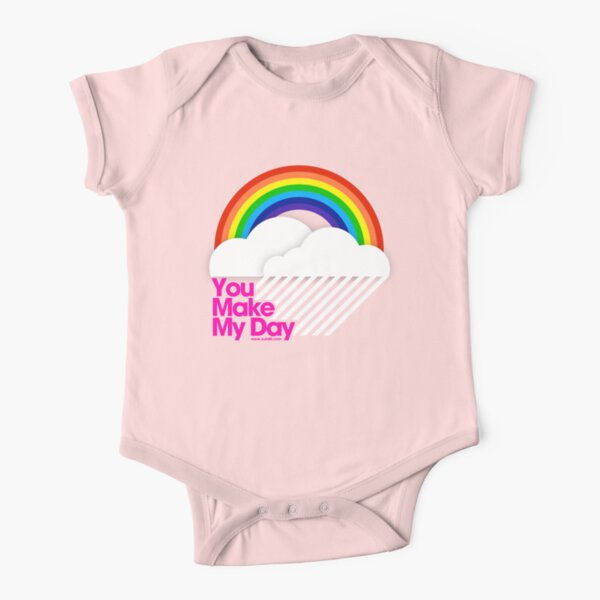 You Make My Day /// Short Sleeve Baby One-Piece