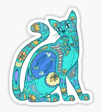 Pattern Cat - summer Sticker