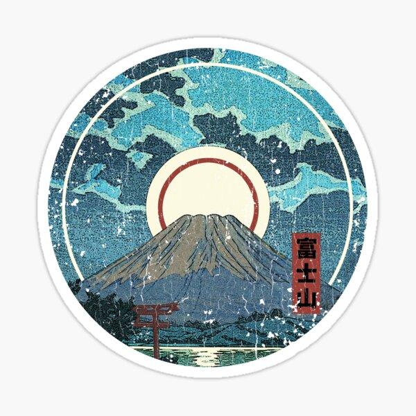Mt. Fuji Moon Sticker