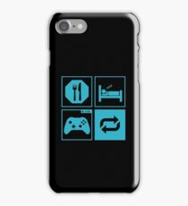 Eat, Sleep, Game, Repeat. iPhone Case/Skin
