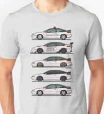 Stack of Pearl White Subaru Alcyone SVX T-Shirt
