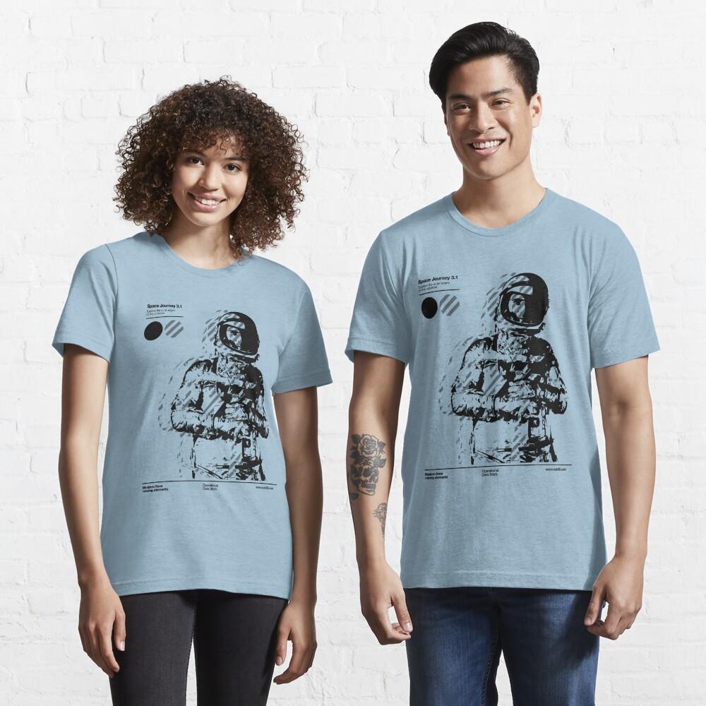 Space Journey 3.1 (black Essential T-Shirt