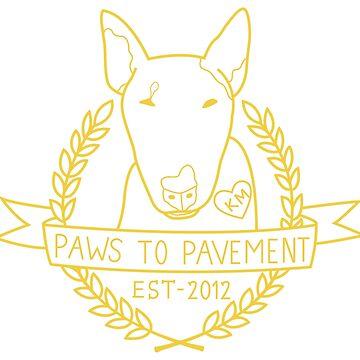 Paws To Pavement Dog Walking San Diego Yellow Gold by Ejmckinney19