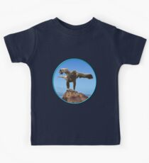 GALLIMAUFRY ~ JUST PHOTOS ~ SCENES & SCENERY ~ D1G1TAL-M00DZ ~ Eagle On Rock by tasmanianartist Kids Tee