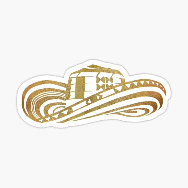 Colombian Sombrero Vueltiao in Gold Leaf Sticker