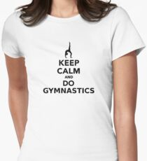 Keep calm and do Gymnastics Women's Fitted T-Shirt