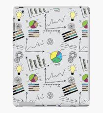 doodle finance seamless pattern iPad Case/Skin