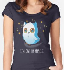Owl by Myself Women's Fitted Scoop T-Shirt