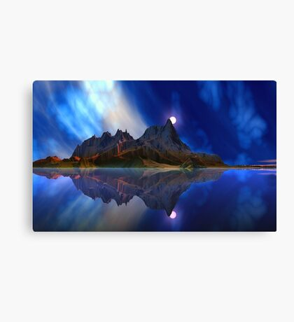 Moonrise Accension Island. Canvas Print