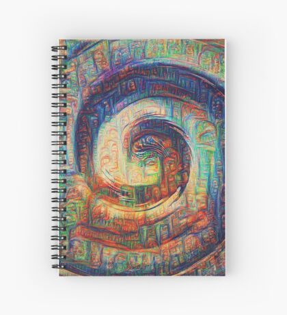 The shade #DeepDream Spiral Notebook