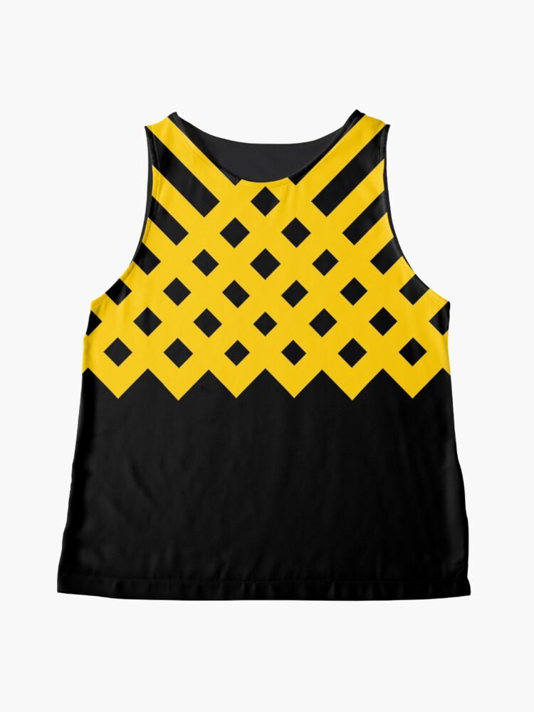 Alternate view of Black and Gold - Version 1 Sleeveless Top