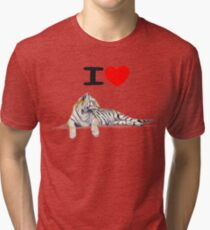 I love Tigers Tri-blend T-Shirt