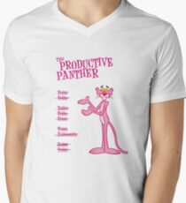 The Productive Panther Mens V-Neck T-Shirt