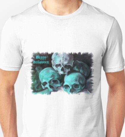 Happy Halloween Pile of Skulls After Cezanne T-Shirt