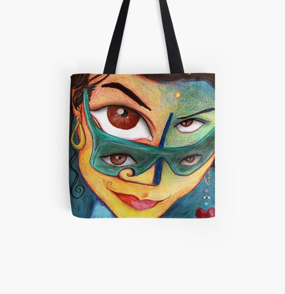 lucy All Over Print Tote Bag