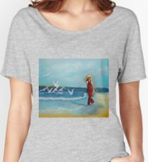 Joys of Freedom  pastel painting Women's Relaxed Fit T-Shirt