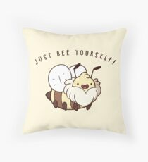 Just Bee Yourself Throw Pillow