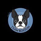 Team Boston - Terrier Puppy Dog  by Zoe Lathey