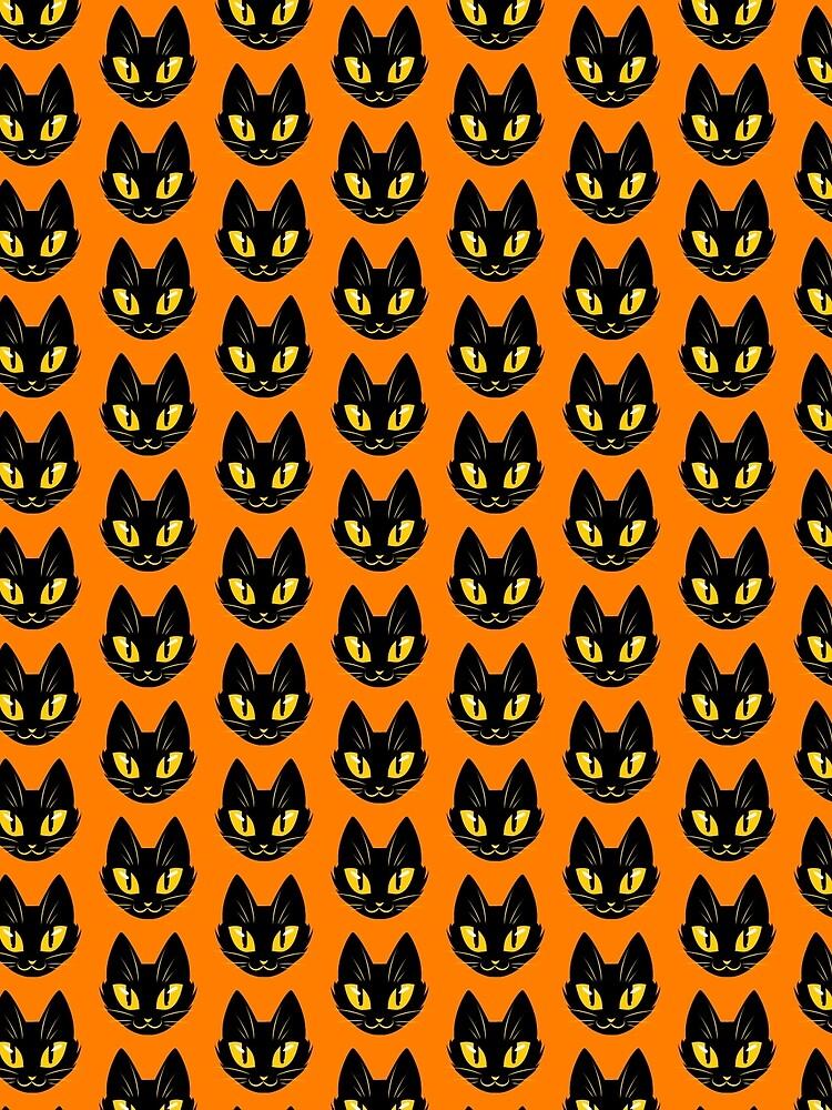 Little Black Cat (orange version) by RileyOMalley
