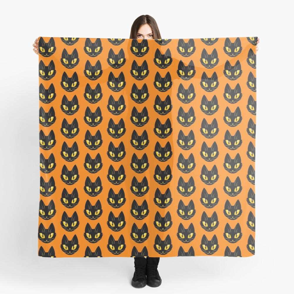 Little Black Cat (orange version) Scarf