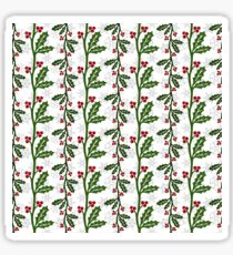 Seamless christmas holly pattern Sticker