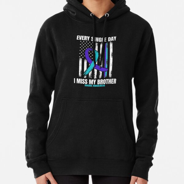 Brother Suicide Awareness Prevention American Flag Graphic Premium Pullover Hoodie