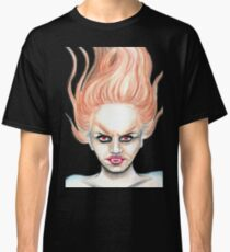 Vampiress - Readhead Vampire Girl Halloween Art Classic T-Shirt