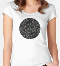 Wolf Pack Pattern Women's Fitted Scoop T-Shirt