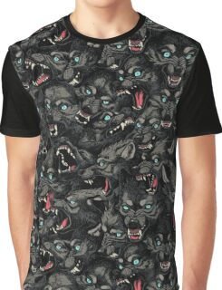 Wolf Pack Pattern Graphic T-Shirt