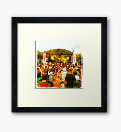 Love saves the day Framed Print