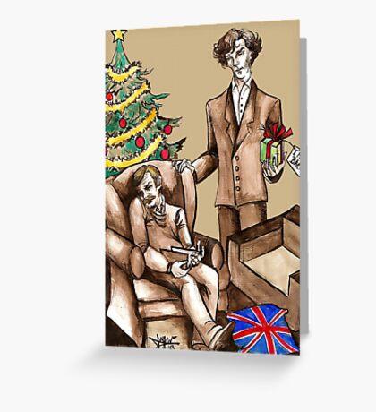 Christmas at 221B Baker Street - Surprise! Greeting Card