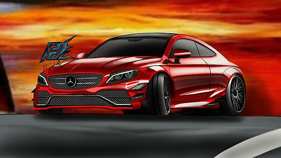 Naquash Design Mercedes Amg C63 S Coupe Posters By Naquash Redbubble
