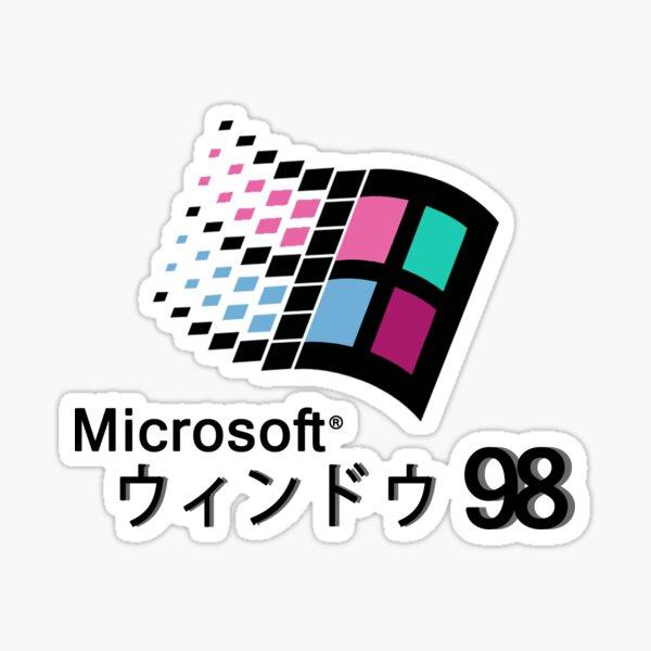 Microsoft Windows 98 Vaporwave Sticker