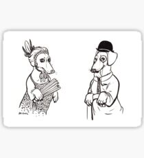 Stately Sausages Sticker