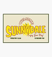 Welcome to Sunnydale Photographic Print