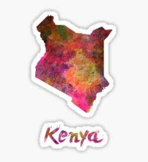 Kenya in watercolor Sticker
