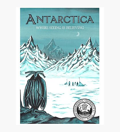 Antarctic - where seeing is believing Photographic Print